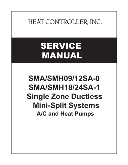 small resolution of comfort aire smh12 service manual