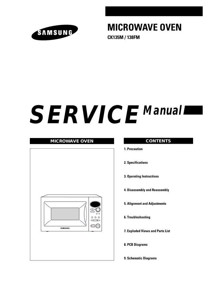 Samsung CK135 Service manual
