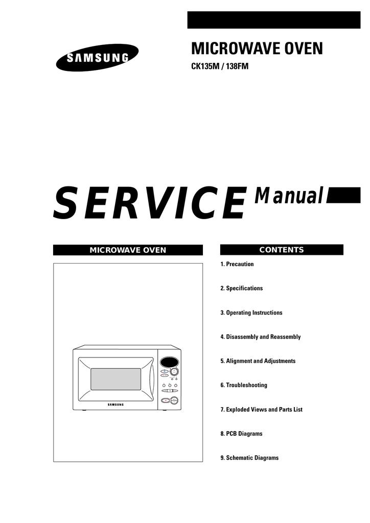 Samsung CK135 Service manual