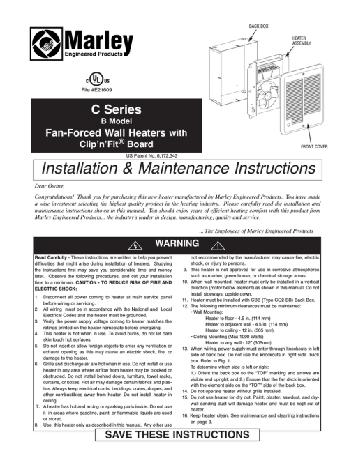 small resolution of marley engineered products c series instructions assembly