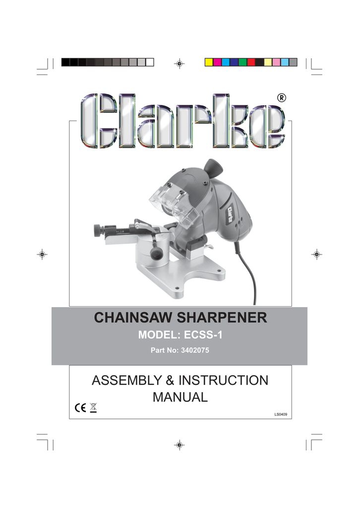 Chicago Electric Chainsaw Sharpener 93213 Manual