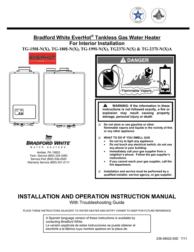 hight resolution of bradford white bradford white everhot tg 180i n x instruction manual manualzz com