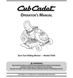 cub cadet i1050 operator s manual [ 791 x 1024 Pixel ]