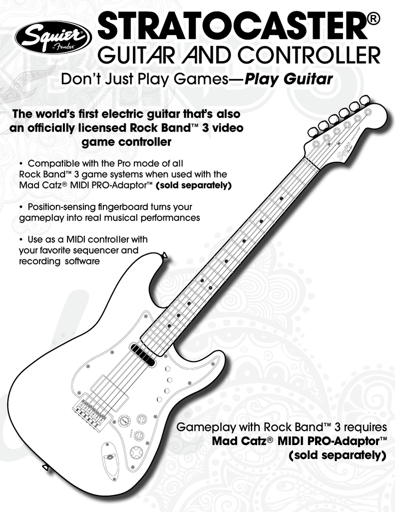 hight resolution of mad catz rock band 3 midi pro adapter 96071 user manual