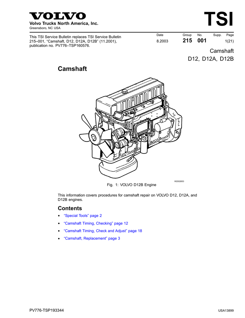 medium resolution of volvo d12 specifications manualzz com volvo d12 engine wiring diagram volvo d12a engine diagram