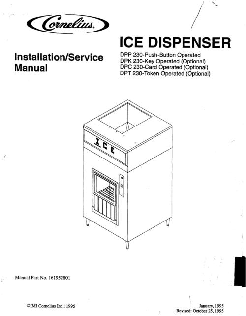 small resolution of cornelius dpc 230 service manual