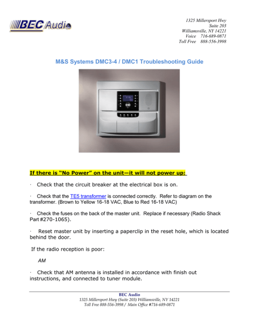 small resolution of m s systems dmc3 4 dmc1 troubleshooting guide