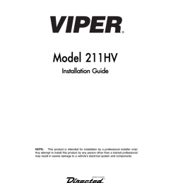 viper 211hv installation guide [ 791 x 1024 Pixel ]
