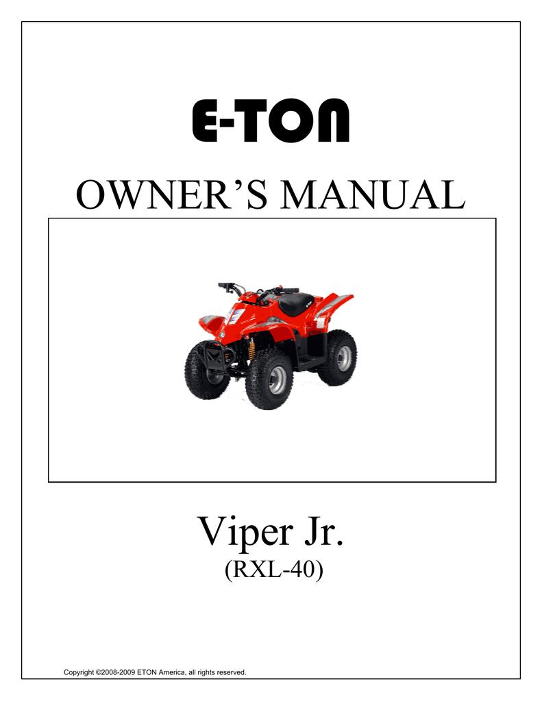 medium resolution of e ton viper jr rxl 40 owner s manual manualzz com