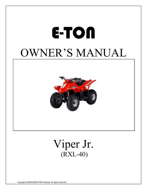small resolution of e ton viper jr rxl 40 owner s manual manualzz com