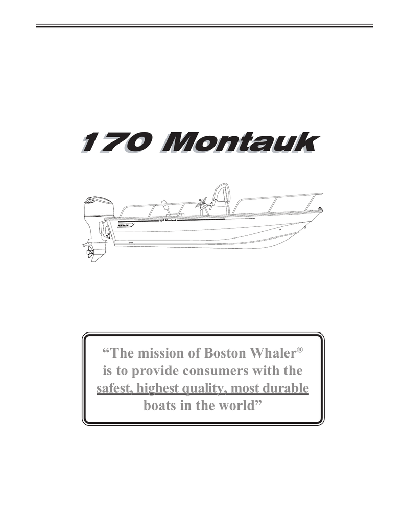 hight resolution of boston whaler 170 montauk owner s manual