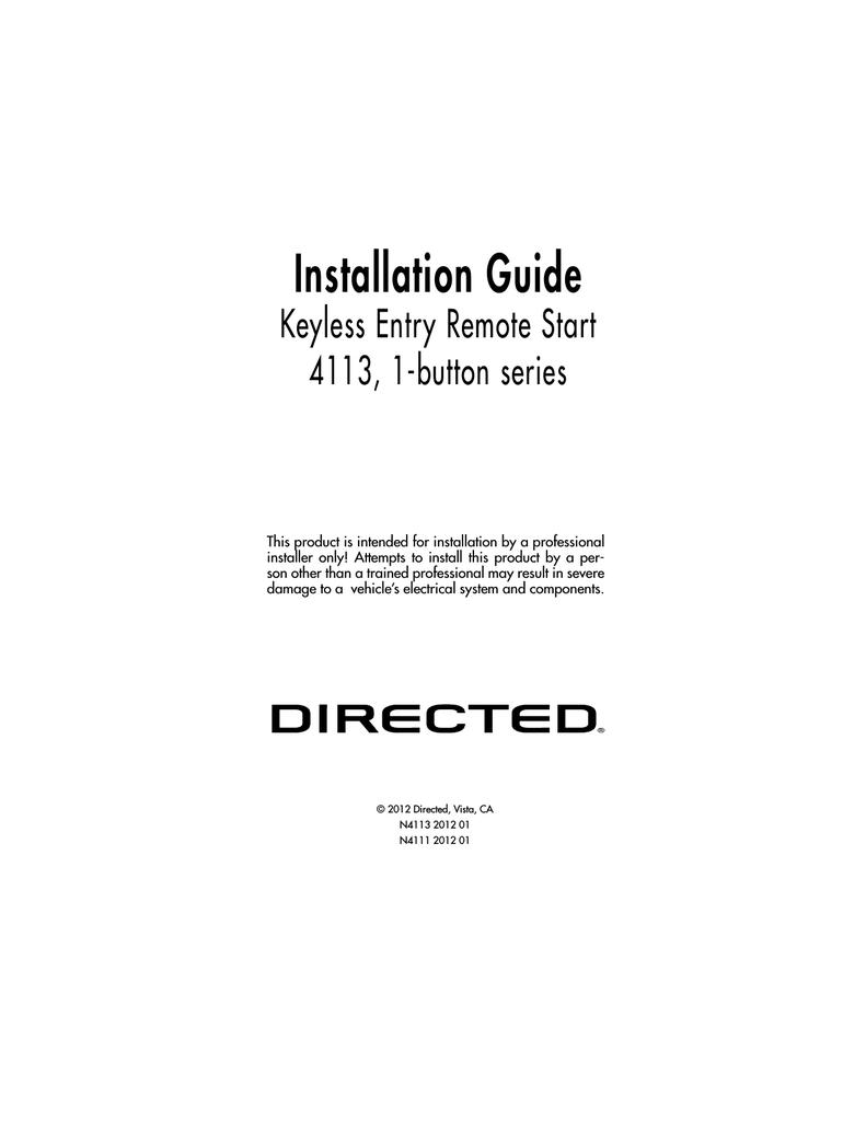 hight resolution of avital 4111 installation guide installation guide keyless entry remote start