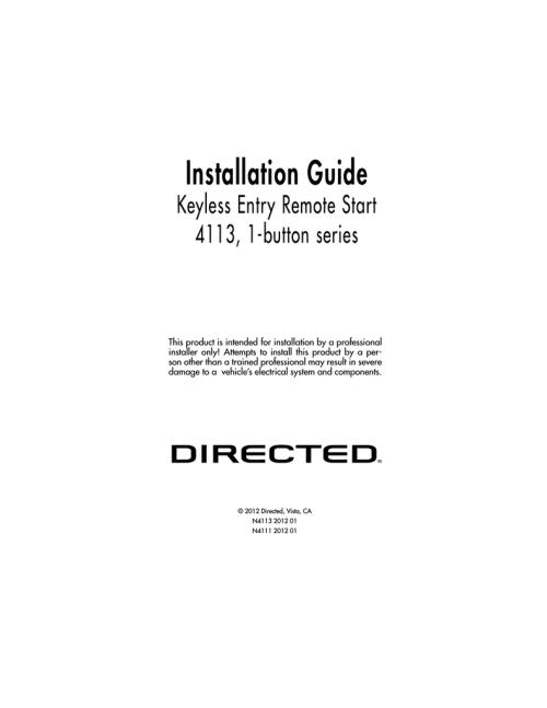 small resolution of avital 4111 installation guide installation guide keyless entry remote start