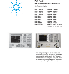 agilent technologies e8364c specifications manualzz com agilent pna and pna l series microwave network analyzers block diagram  [ 791 x 1024 Pixel ]