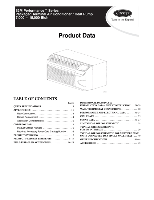 small resolution of carrier comfort 52c series product data
