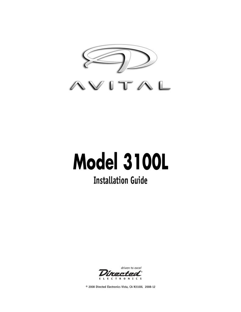 directed electronics 3100 wiring diagram fj1200 451m door lock relay viper installation guide manualzz com