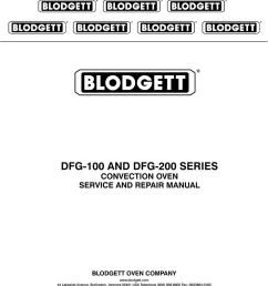 blodgett dfg 100 repair manual dfg 100 and dfg 200 series convection oven  [ 791 x 1024 Pixel ]