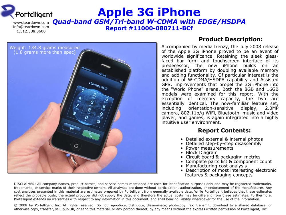 medium resolution of apple 3g iphone teardown sample