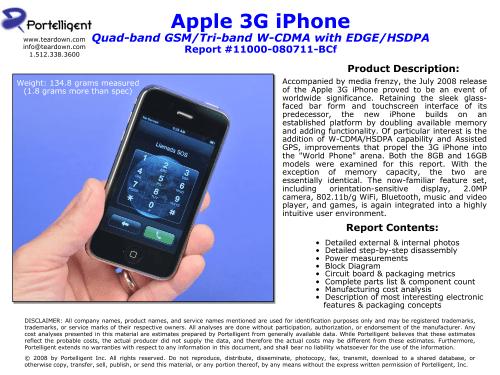 small resolution of apple 3g iphone teardown sample