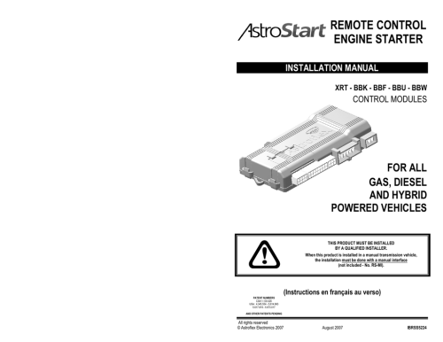 small resolution of astrostart 701u installation manual remote control engine starter