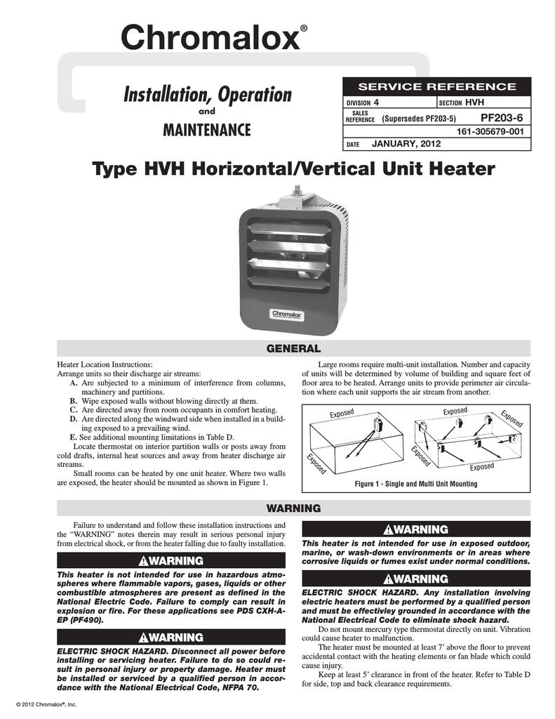 hight resolution of  wiring diagram t8 ballast chromalox hvh 10 21 unit installation manualzz com on 208 3