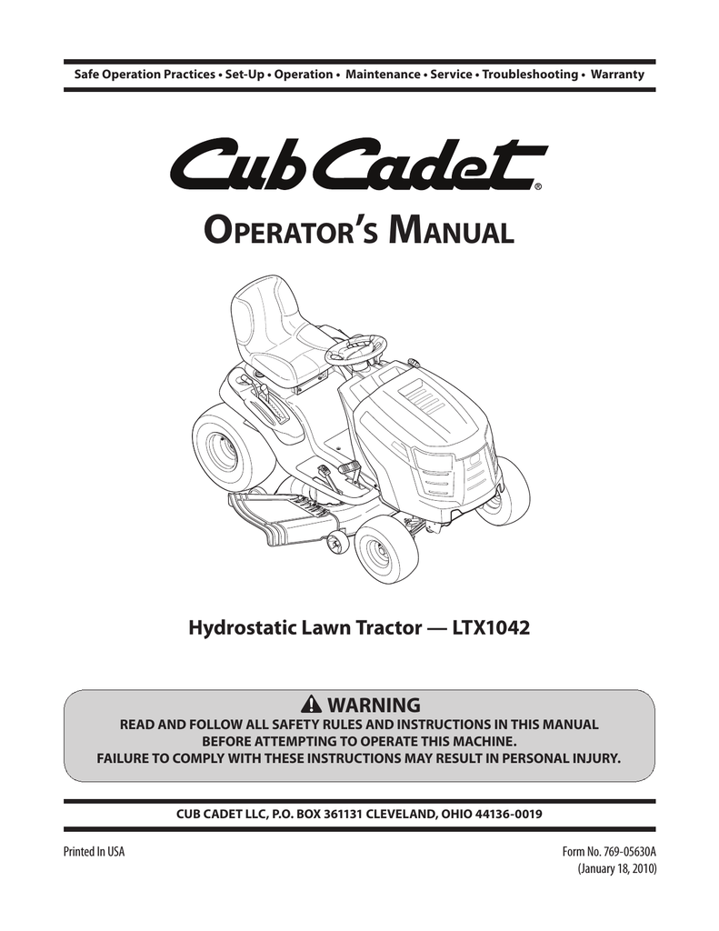 medium resolution of cub cadet ltx 1042 kw operator s manual
