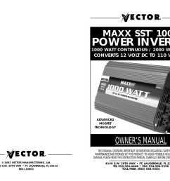 vector maxx sst vec049c owner s manual manualzz com volts power inverter schematic diagram vector 2000 watt power inverter [ 1024 x 791 Pixel ]
