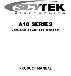 scytek electronic vehicle security system a10 product manual on reverse light wiring diagram scytek car alarm wiring  [ 791 x 1024 Pixel ]