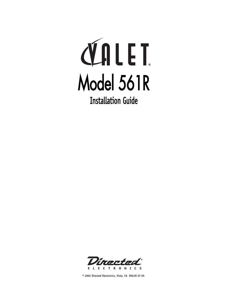 medium resolution of directed electronics valet 561t installation guide