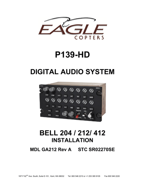 small resolution of eagle p139 hd installation manual