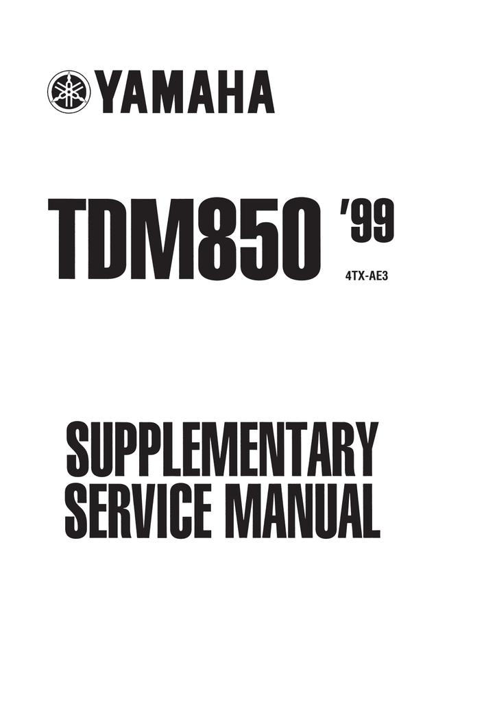 Bestseller: Yamaha Tdm 850 Manual