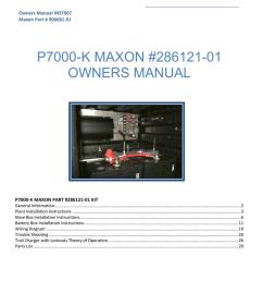 maxon p7000 k owner s manual [ 791 x 1024 Pixel ]