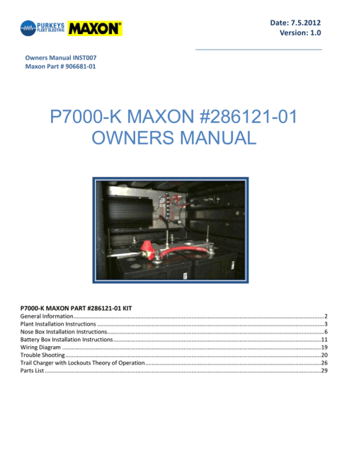 small resolution of maxon p7000 k owner s manual