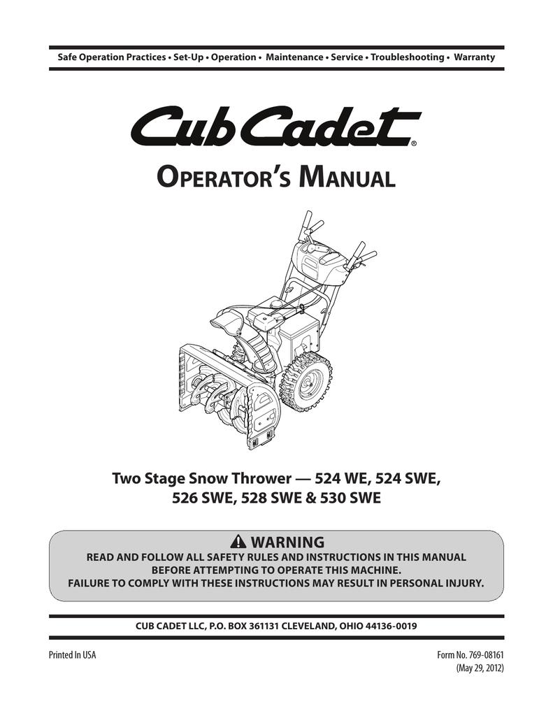hight resolution of cub cadet 530 swe operator s manual