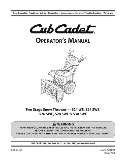small resolution of cub cadet 530 swe operator s manual