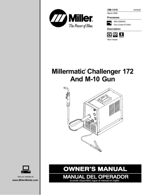 small resolution of miller electric 172 m 10 gun owner s manual