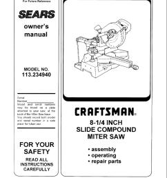 craftsman 113 234940 owner s manual [ 791 x 1024 Pixel ]