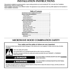 maytag mmv1153aa specifications microwave hood combination installation  [ 791 x 1024 Pixel ]