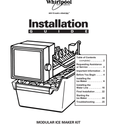 whirlpool automatic ice maker installation guide [ 791 x 1024 Pixel ]