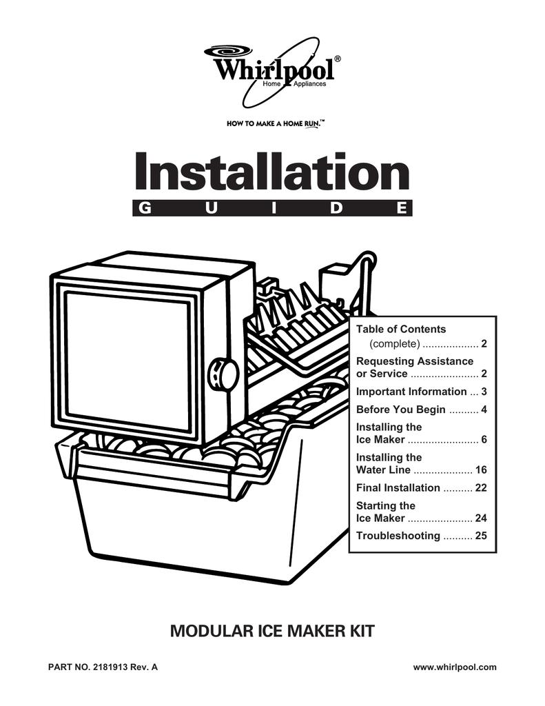 medium resolution of whirlpool automatic ice maker installation guide