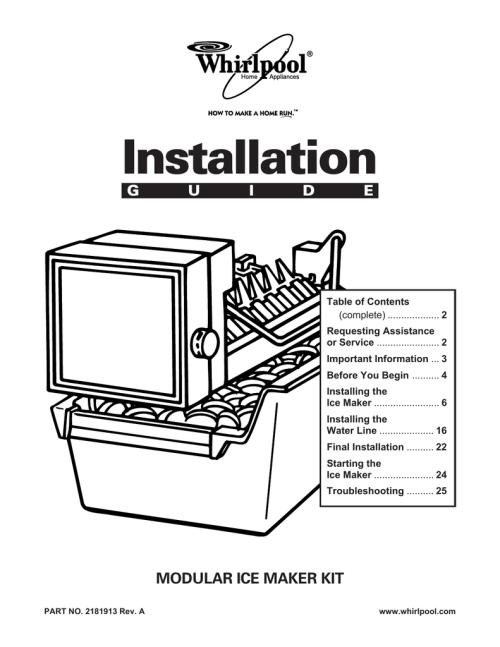 small resolution of whirlpool automatic ice maker installation guide