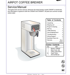 curtis c500ap service manual c500ap c500apt airpot coffee brewer  [ 791 x 1024 Pixel ]