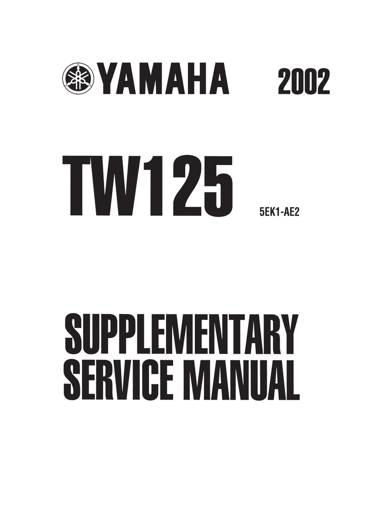 Yamaha TW125 (5RS1) Service manual