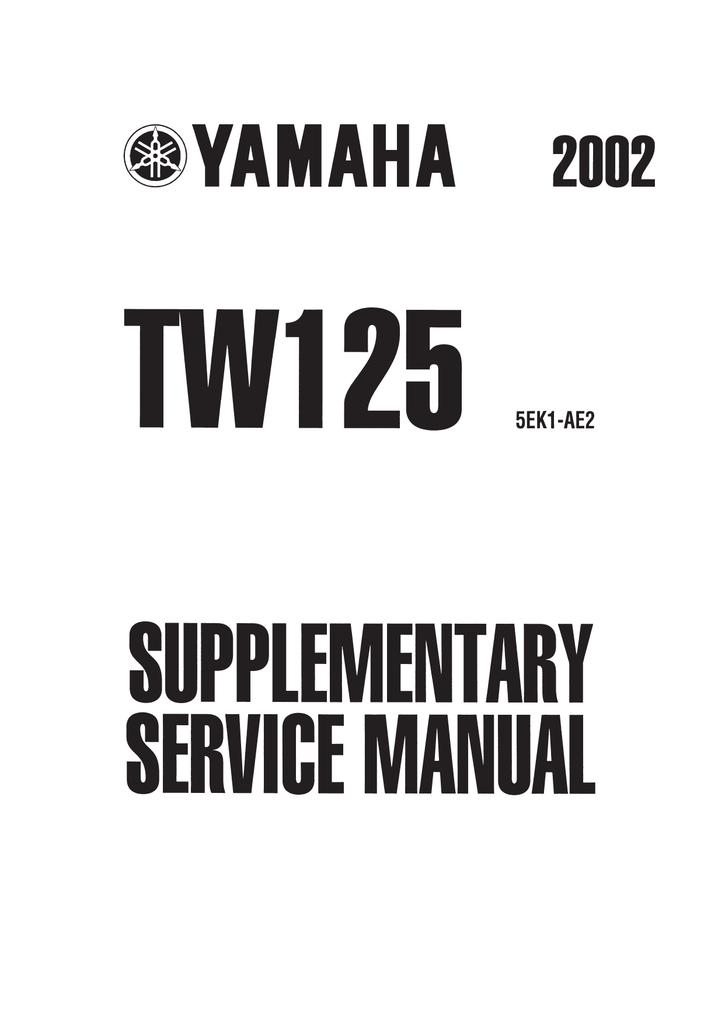 Yamaha TW125 (5RS1) Service manual