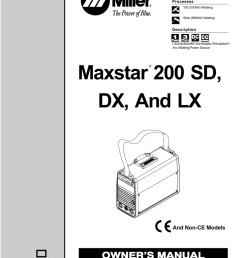 miller maxstar 200 wiring diagram [ 791 x 1024 Pixel ]