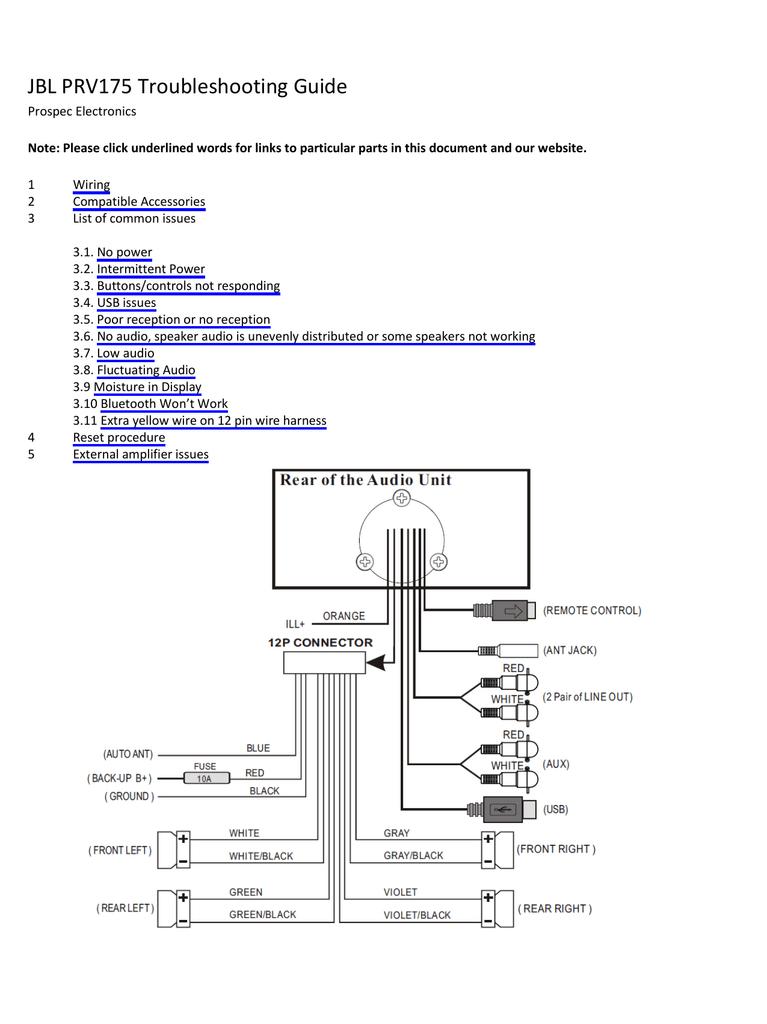 Jbl Prv 175 Wiring Diagram : 26 Wiring Diagram Images