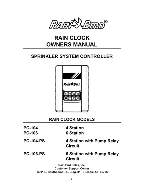 small resolution of rain bird pc 206 ps programming instructions