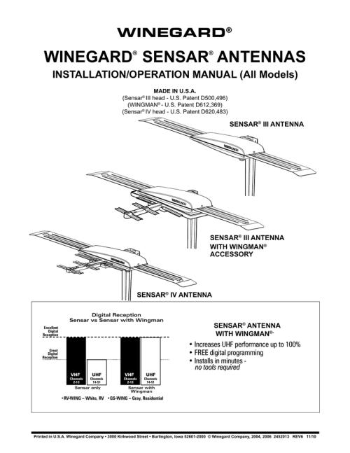 small resolution of winegard as 2053 winegard sensar antennas