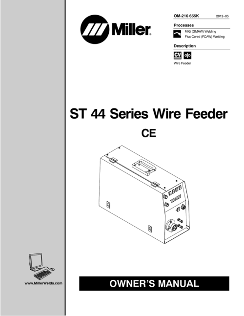 small resolution of miller electric st 44 series wire feeder owner s manual