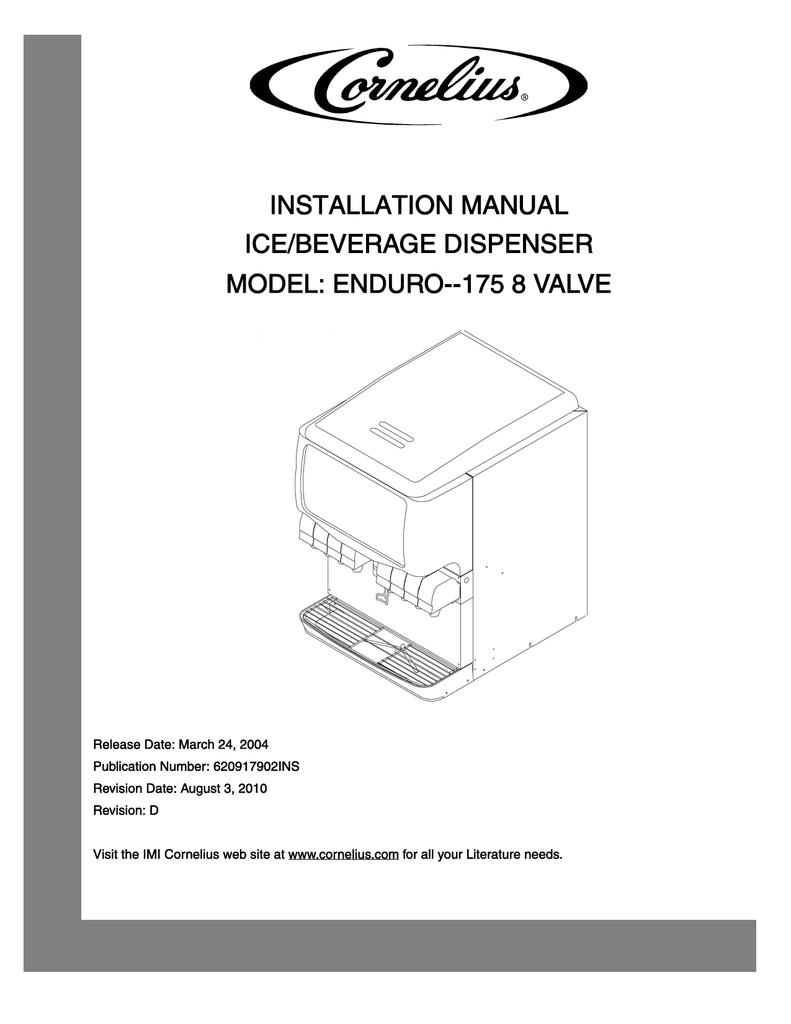 hight resolution of cornelius enduro 175 installation manual
